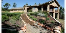 Landscaping around home according to firewise princples.